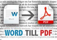 Word till PDF