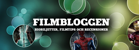 Header film med text