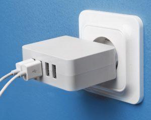 USB-laddare med 4 portar